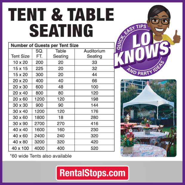 Tent Table Seating
